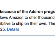 Amazon Add-On Items: impact on online marketplace going forward.